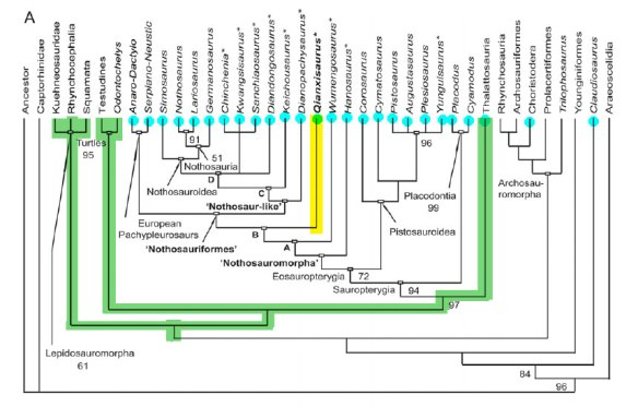 Cheng et al. 2012 tree nesting Qianxisaurus