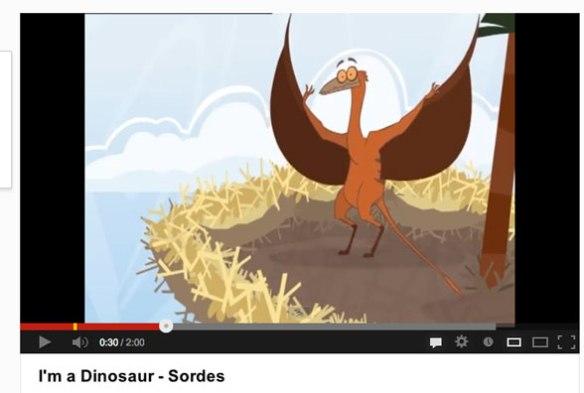 Click to play. I'm a Dinosaur cartoon - Sordes.