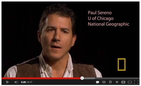 Dr. Paul Sereno discusses paleontology and extreme dinosaurs for National Geographic