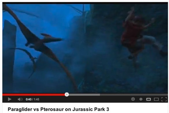 Click to play. Pterosaurs attacking our heroes in Jurassic Park 3.