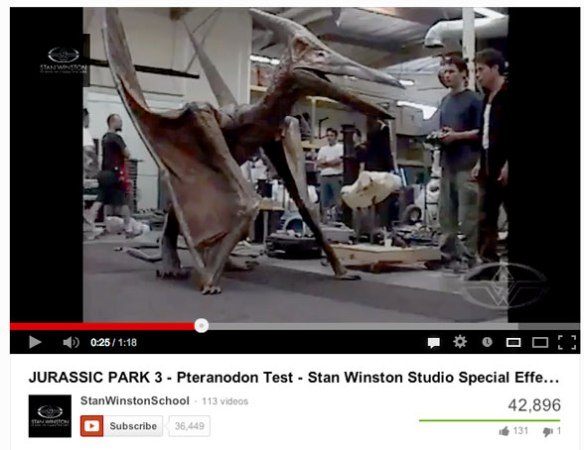 Stan Winston Pteranodon suit for Jurassic Park 3.