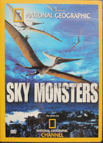 Sky Monsters DVD  carrying case featuring Pteranodon on the cover.