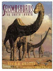 Mark Hallett's art for the cover of a Seismosaurus book.