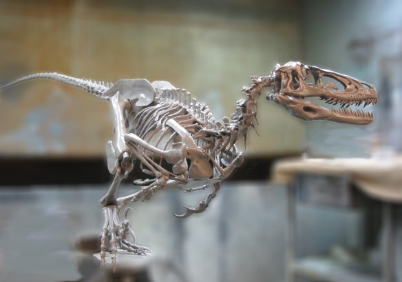 Figure 1. Deinonychus skeleton model by Jason Brougham. Click to learn more.