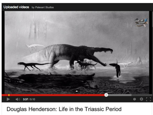 Click to view YouTube video of Doug Henderson paleo artwork.