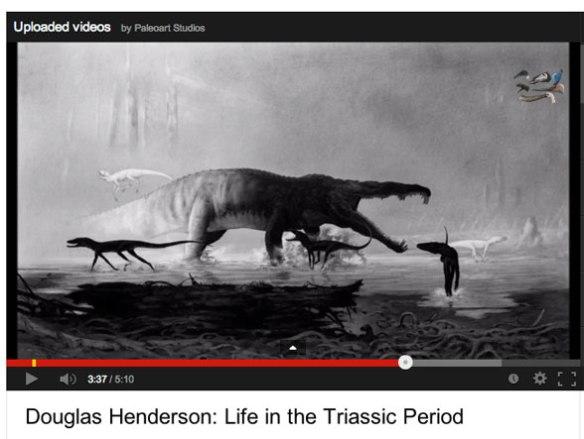 Click to view YouTube video of Doug Henderson paleo artwork.