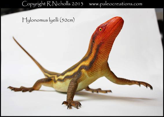 Hylonomus sculpture by Robert Nicholls.