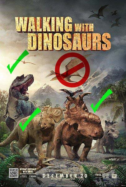 Figure 1. Walking with Dinosaurs poster.
