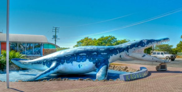 Figure 4. Life size sculpture of Kronosaurus in the small outback town of Richmond, Australia.