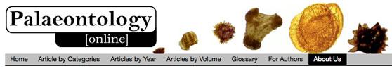 Header for website paleontology online.