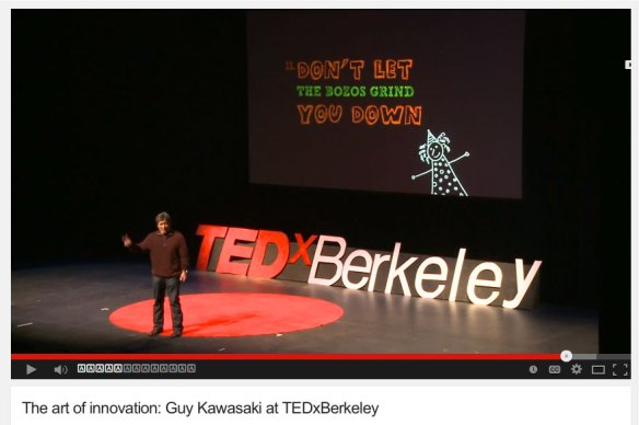 Figure 2. Guy Kawasaki TED talk.