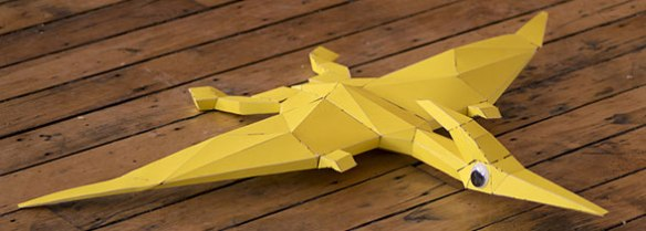 Figure 2. Smaller more complete cardboard model of Pteranodon.