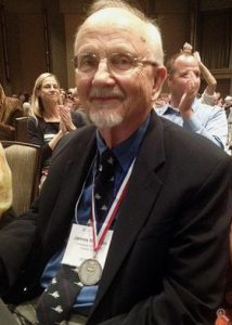 Jim Hopson, Professor Emeritus, University of Chicago, honored with the Romer-Simpson medal at the Dallas 2015 meeting of the Society of Vertebrate Paleontology. Well deserved.