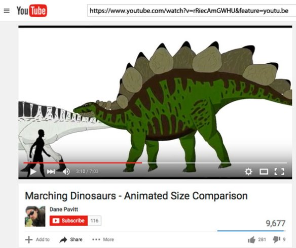 Figure 1. Marching dinosaurs video. Click to view.