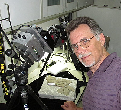 Inventor, Astronomer, Paleontologiist, Entrepreneur, Tom Kaye is turning his laser on fossils and seeing things no one else has ever seen before.