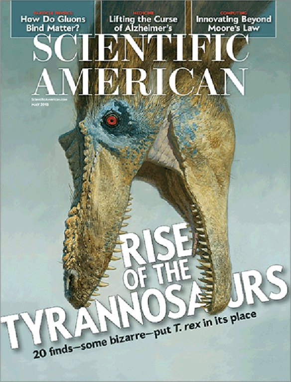 Figure 1. Rise of the Tyrannosaurs by Stephen Brusatte, Scientific American
