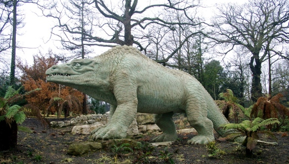 Figure 3. One of the Victorian London dinosaurs crafted by BW Hawkins for the Crystal Palace exhibit, that Dr. Naish praises.