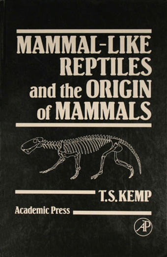 COVER OF KEPT (1982). THE BEST BOOK ON THE GROUP OF ANIMALS SO FAR. NOW OUT OF PRINT (BUT AVAILABLE AT REASONABLE PRICES ONLINE. CREDIT: ACADEMIC PRESS LONDON. This is indeed the go-to book for synapsid data.