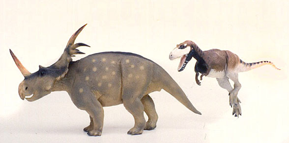 Figure 4. Styracosaurus and Albertasaurus to scale.