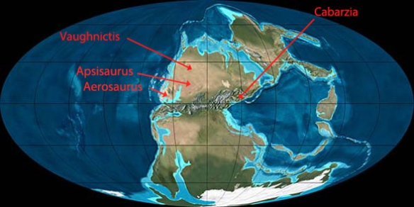Figure 6. Early Permian Earth, prior to the separation of Europe from North America.