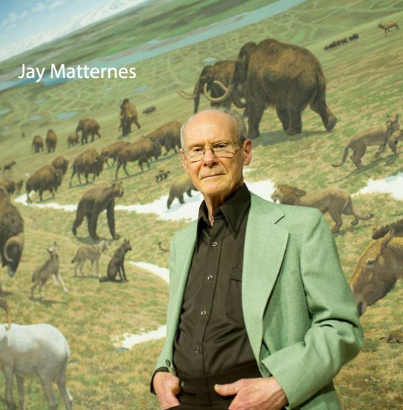Figure 1. The guiding spirit of all living paleoartists (along with Charles R Knight) Jay Matternes is featured and honored in a recent Smithsonian Magazine online article.