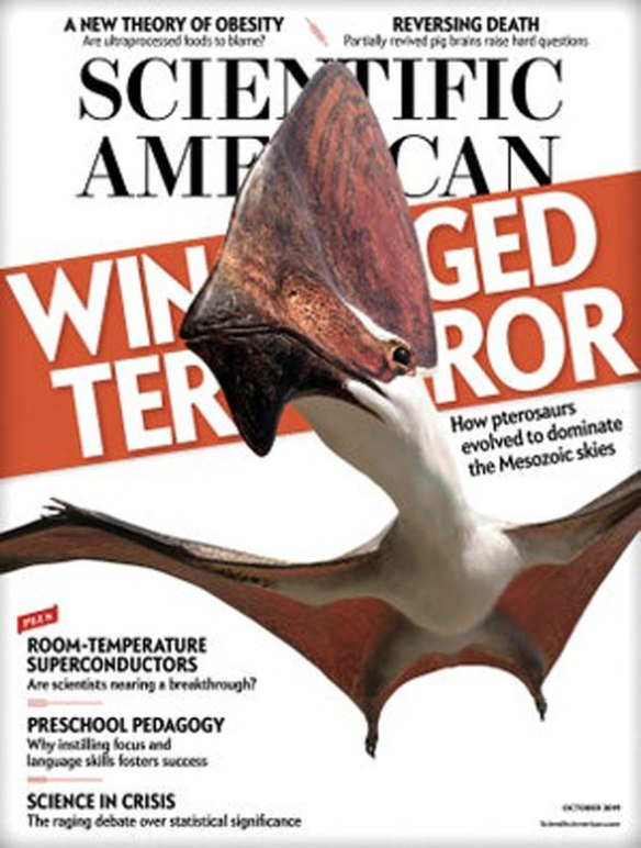 Cover of Scientific American featuring article by Michael Habib.