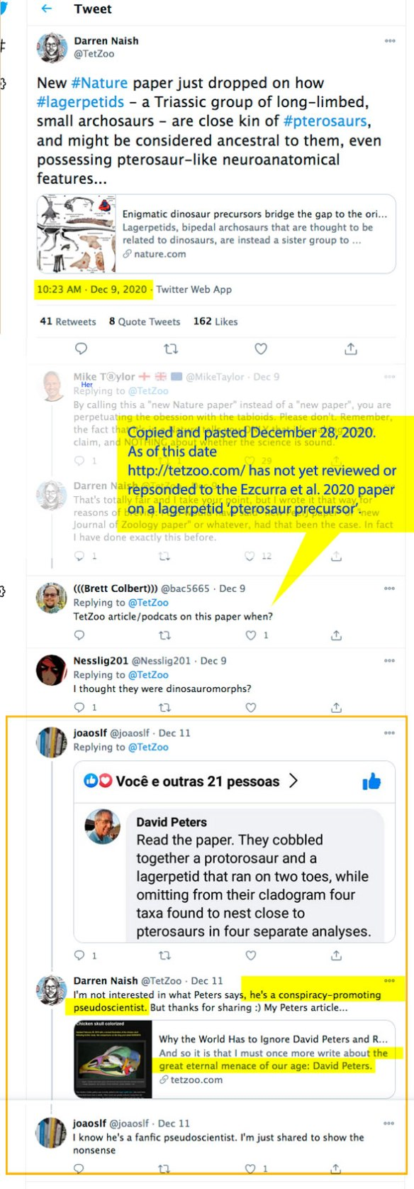 Figure 1. Copy and paste from @Tetzoo Twitter.com account December 09, 2020.